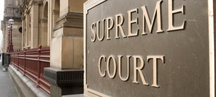 Photograph outside the supreme court