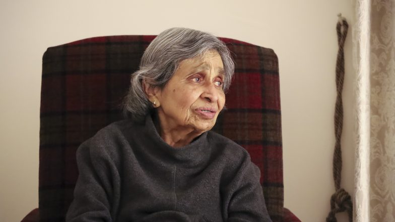 Old woman self isolating during coronavirus outbreak