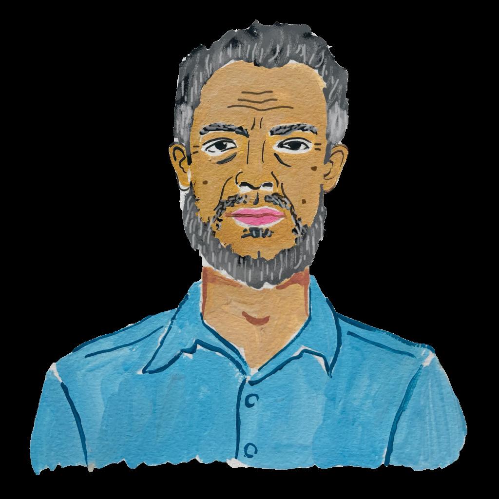 Illustration of an older man of colour