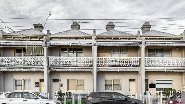 Row of terrace houses